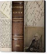 1860 Adam Sedgwick Review Of Darwin Canvas Print by Paul D Stewart