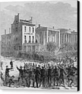 1866 Race Riot In New Orleans Was One Canvas Print by Everett
