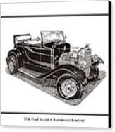 1930 Ford Model A Roadster Canvas Print by Jack Pumphrey