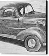 1937 Chevy Canvas Print by Kume Bryant