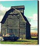1950 Cadillac Barn Cornfield Canvas Print by Lyle Hatch