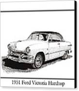 1951 Ford Victoria Hardtop Canvas Print by Jack Pumphrey