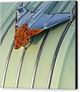 1954 Pontiac Chieftain Hood Ornament Canvas Print by Gordon Dean II