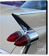 1958 Cadillac Tail Lights Canvas Print by Paul Ward
