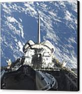 A Partial View Of Space Shuttle Canvas Print by Stocktrek Images