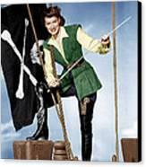 Against All Flags, Maureen Ohara, 1952 Canvas Print by Everett
