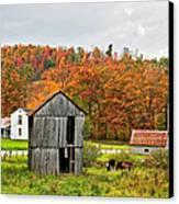 Autumn Farm Canvas Print by Steve Harrington