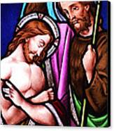 Baptism Canvas Print by Munir Alawi