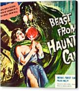 Beast From Haunted Cave, Sheila Carol Canvas Print by Everett