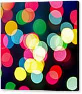 Blurred Christmas Lights Canvas Print by Elena Elisseeva