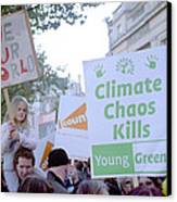Campaign Against Climate Change March Canvas Print by Victor De Schwanberg