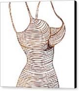 Fashion Sketch Canvas Print by Frank Tschakert