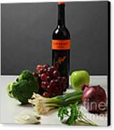 Foods Rich In Quercetin Canvas Print by Photo Researchers, Inc.