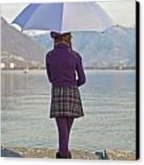 Girl With Umbrella Canvas Print by Joana Kruse
