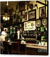 Historic Niles District In California Near Fremont . Bronco Billys Pizza Palace . 7d10707 Canvas Print by Wingsdomain Art and Photography