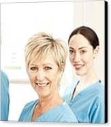 Hospital Staff Canvas Print by