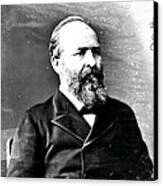 James A. Garfield, 20th American Canvas Print by Photo Researchers