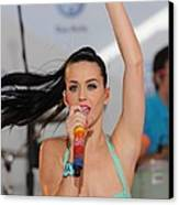 Katy Perry At A Public Appearance Canvas Print by Everett