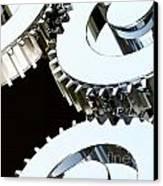 Metal Gear Canvas Print by Gualtiero Boffi