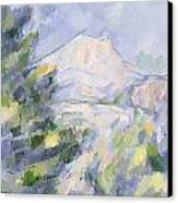 Mont Sainte-victoire Canvas Print by Paul Cezanne