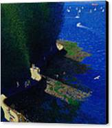 North Seawall At Low Tide Canvas Print by Neil Woodward