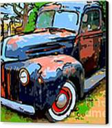 Nostalgic Rusty Old Truck . 7d10270 Canvas Print by Wingsdomain Art and Photography