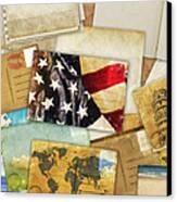 Postcard And Old Papers Canvas Print by Setsiri Silapasuwanchai