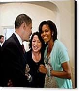 President And Michelle Obama Canvas Print by Everett