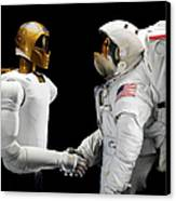 Robonaut 2, A Dexterous, Humanoid Canvas Print by Stocktrek Images
