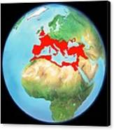 Roman Empire, Artwork Canvas Print by Gary Hincks