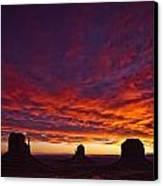 Sunrise Over Monument Valley, Arizona Canvas Print by Robert Postma