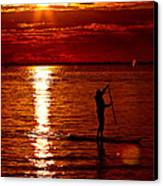Sunset Silhouette Canvas Print by Barbara  White
