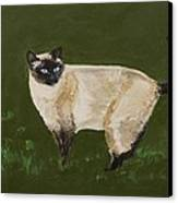 Sweetest Siamese Canvas Print by Leslie Allen
