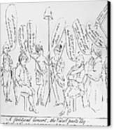 `treaty Of Paris, 1783 Canvas Print by Granger