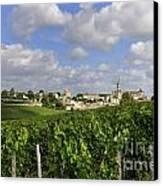 Village And Vineyard Of Saint-emilion. Gironde. France Canvas Print by Bernard Jaubert