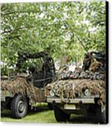 Vw Iltis Jeeps Used By Scout Or Recce Canvas Print by Luc De Jaeger