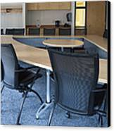 Empty Boardroom Or Meeting Room In An Canvas Print by Marlene Ford