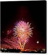 Fireworks Canvas Print by Elijah Weber