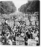March On Washington. 1963 Canvas Print by Granger