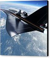 Saenger Horus Spaceplane, Artwork Canvas Print by Detlev Van Ravenswaay