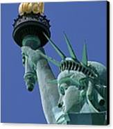 Statue Of Liberty Canvas Print by Ron Watts