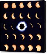 Timelapse Image Of A Total Solar Eclipse Canvas Print by Dr Fred Espenak