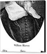William Harvey, English Physician Canvas Print by Science Source