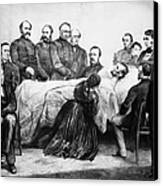 Death Of Lincoln, 1865 Canvas Print by Granger