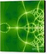Green Fractal Canvas Print by Odon Czintos