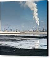 Oil Industry Pollution Canvas Print by David Nunuk