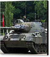 The Leopard 1a5 Mbt Of The Belgian Army Canvas Print by Luc De Jaeger