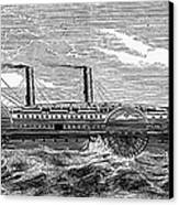 4 Wheel Steamship, 1867 Canvas Print by Granger