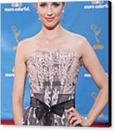 Dianna Agron Wearing A Carolina Herrera Canvas Print by Everett