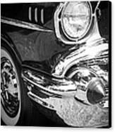 57 Chevy Black Canvas Print by Steve McKinzie